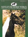 Miniature Horse World cover with X-Caliber's Little Navajo - miniture horse stallion
